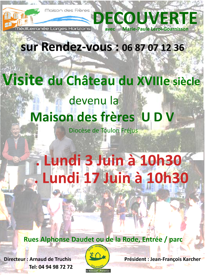 Affiche visites guidees juin