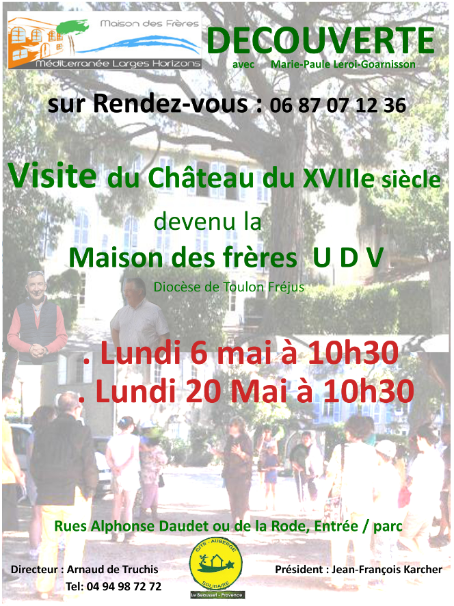 Affiche visites guidees mai